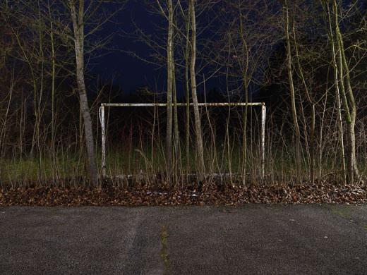 Fussballtor, Geisterspiel, Nacht
